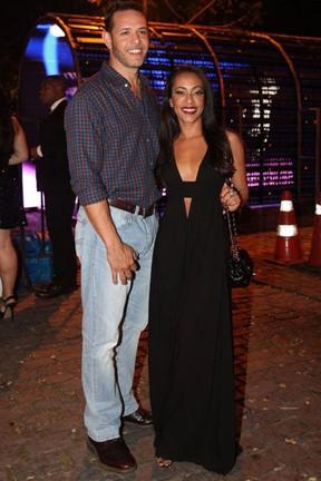 Samantha Schmütz com o marido, Michael, em festa na Zona Sul do Rio (Foto: Claudio Andrade/ Foto Rio News)