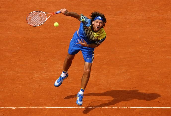 Gustavo Kuerten Guga Roland Garros 2008 tênis grito (Foto: Getty Images)