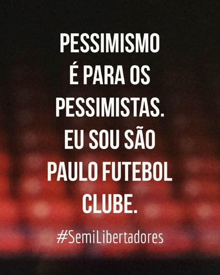 Cartaz Libertadores Blog SPFC