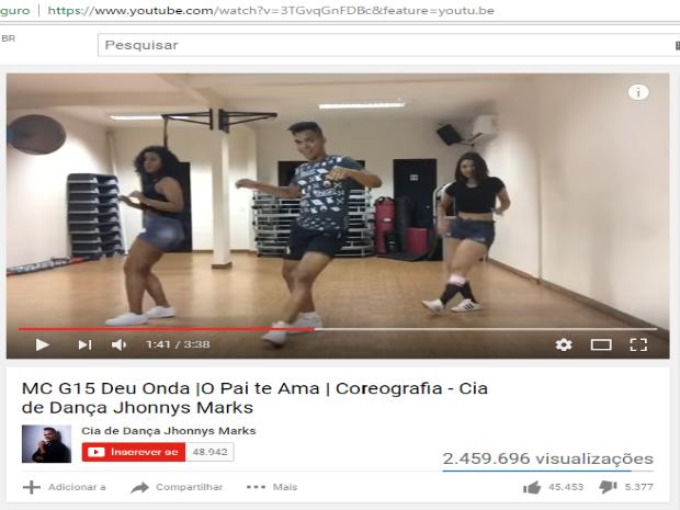 Coreografia da música Deu Onda alcançou mais de 2 milhões de visualizações (Foto: Reprodução/Youtube)