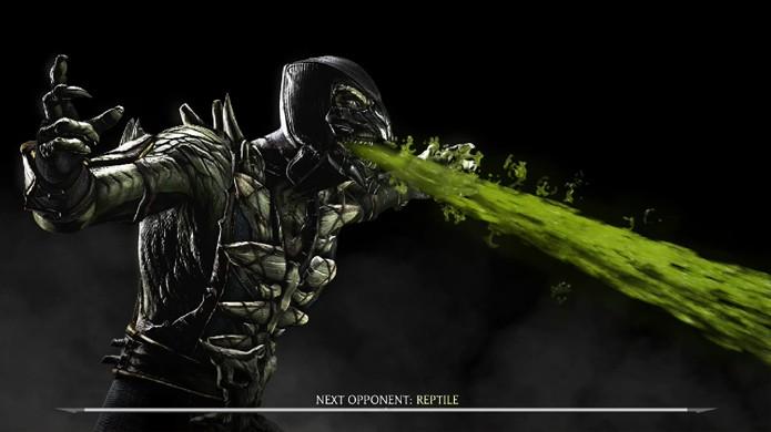 Reptile será seu adversário na luta secreta assim como no primeiro Mortal Kombat (Foto: Reprodução/YouTube)