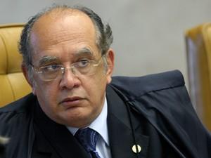 O ministro Gilmar Mendes em sessão do STF (Foto: Nelson Jr./SCO/STF)