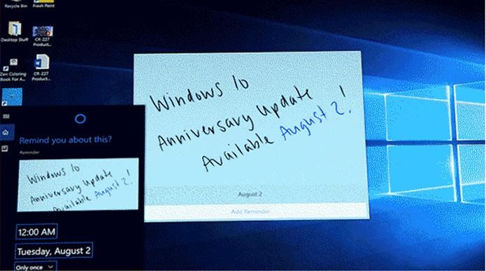 Novo Windows Ink permite usar canetas digitais para escrever na tela de dispositivos (Foto: Reprodução/Microsoft)