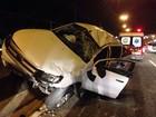 Motorista fica ferido após capotar veículo em viaduto de João Pessoa