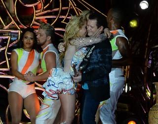 Joelma e Chimbinha em show em Belém do Pará (Foto: Francisco Silva/ Ag. News)