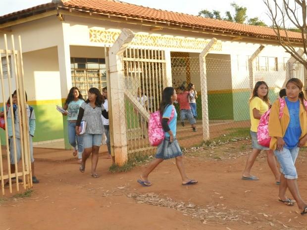 Com projetos experimentais, escola transforma realidade de aldeia em MS (Foto: Fabiano Arruda/G1 MS)