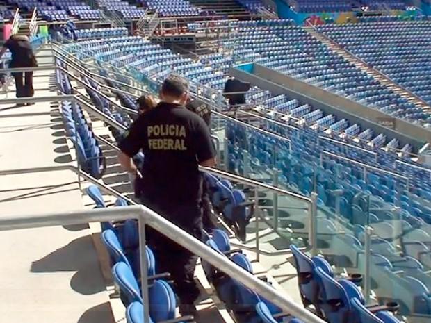 Órgãos de segurança realizaram última grande vistoria na Arena das Dunas antes da Copa do Mundo (Foto: Divulgação/Polícia Federal)