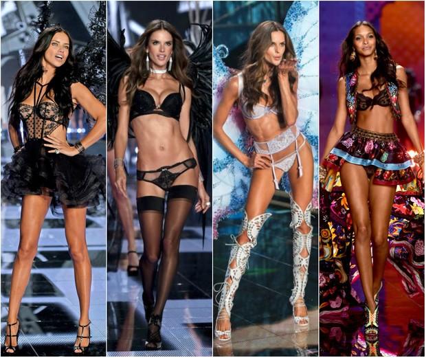 Adriana Lima, Alessandra Ambrósio,  Izabel Goulart e Laís Ribeiro são algumas das top brasileiras que estarão no desfile da Victoria's Secret, em Nova York (Foto: Getty Image)