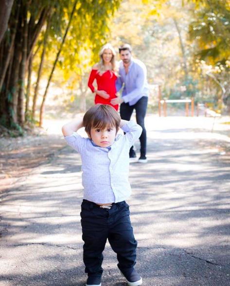 Adriana SantAnna, Rodrigo e o filho (Foto: reprodução/Instagram)