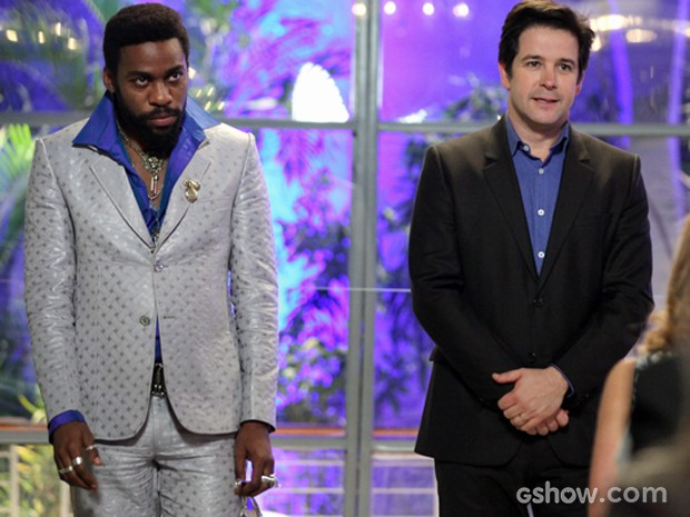 Jonas e Brian fazem discurso inesquecível (Foto: Camila Camacho / TV Globo)