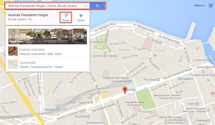 Determinando um ponto de partida no Google Maps (Foto: Reprodução/Marvin Costa)