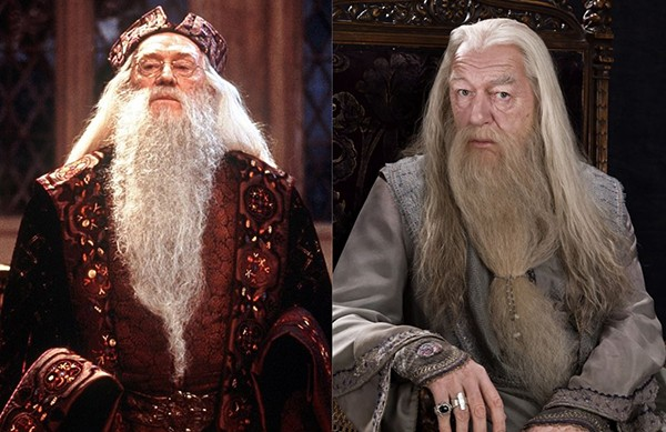 Richard Harris e Michael Gambon como Alvo Dumbledore na franquia 'Harry Potter' (Foto: Divulgação)