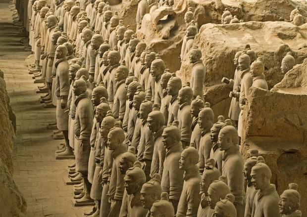 Resultado de imagem para exercito de terracota de Xian