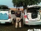 PRF apreende carros roubados e cigarros contrabandeados no Paraná