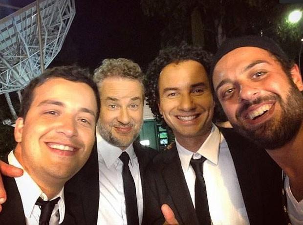 Rafael Cortez, Dan Stulbach, Marco Luque e Tomer Savoia (Foto: Reprodução)