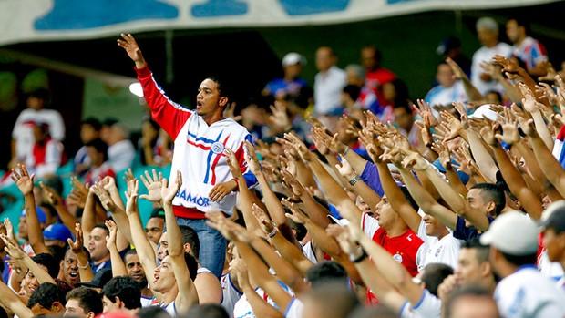 Torcida do jogo Bahia x Portuguesa (Foto: Felipe Oliveira)