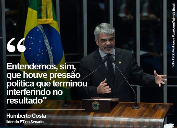 Humberto Costa: Entendemos, sim, que houve pressão política que terminou interferindo no resultado (Foto: G1)