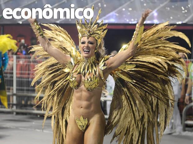 Juju Salimeni desfila no carnaval de São Paulo (Foto: Flavio Moraes/G1)