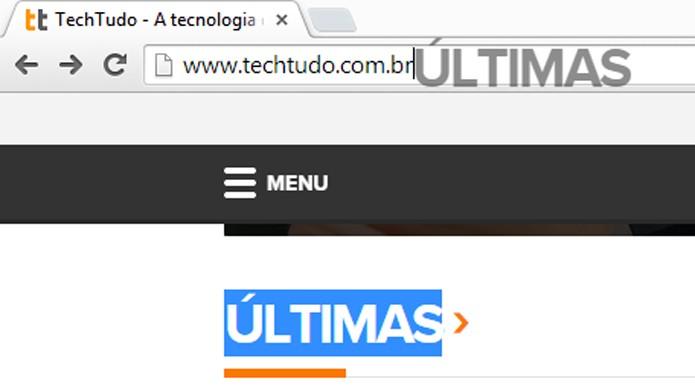 Chrome abre novas pesquisas ao arrastar palavras (foto: Reprodução/Chrome)