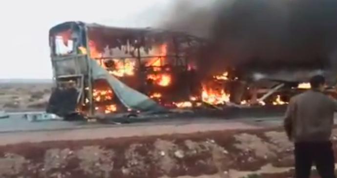 Acidente fatal, Marrocos (Foto: Reprodução/YouTube)