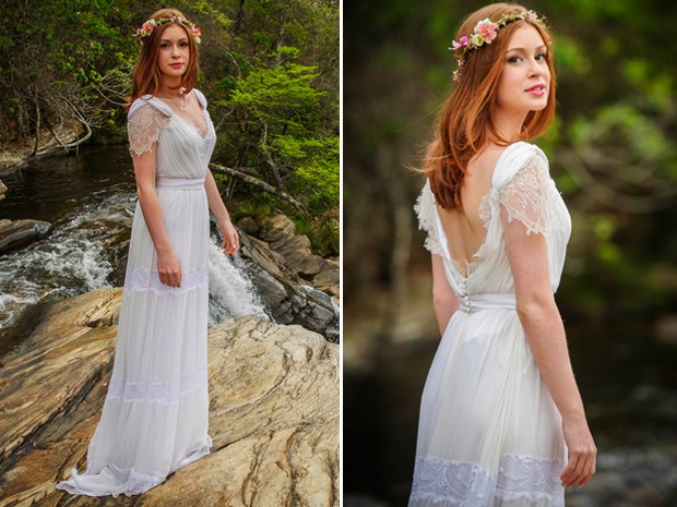 Vestida para casar! Maria Isis de noiva  (Foto: Gshow)