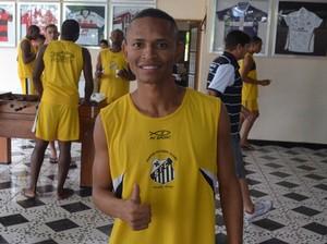 Fabinho; Santos-AP; Amapá (Foto: Rafael Moreira/GE-AP)