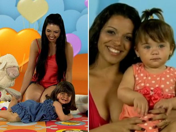 Geisiane, mãe da Lizz, e Patrícia, mãe da Mel, estão no Chiqueirinho (Foto: Mais Você / TV Globo)