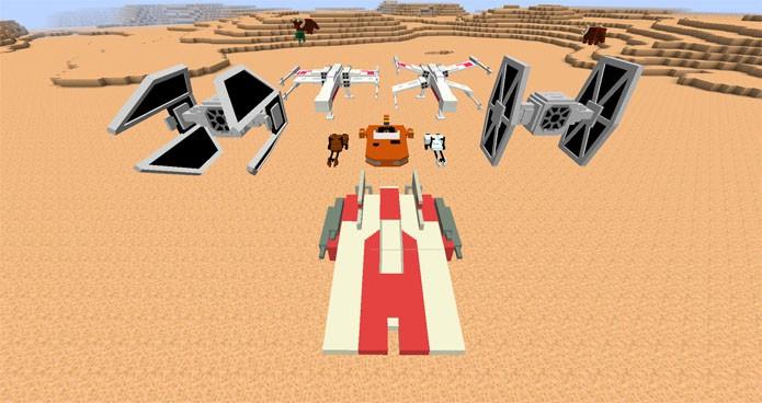 Inclua naves de Star Wars em Minecraft (Foto: Divulgação/Parzivail)