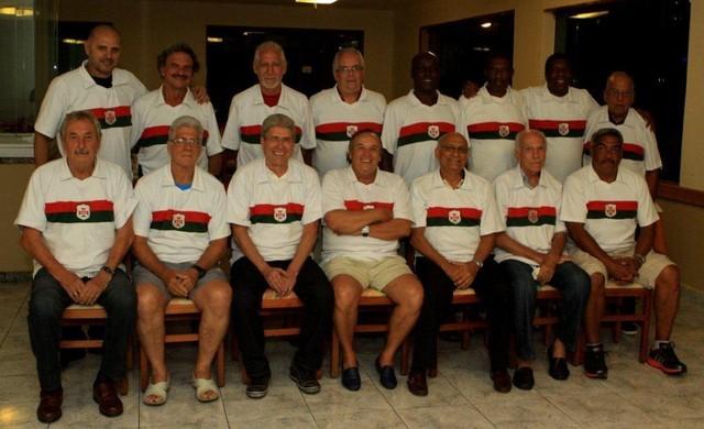 ex-jogadores portuguesa santista (Foto: Carlos Nogueira / A Tribuna de Santos)