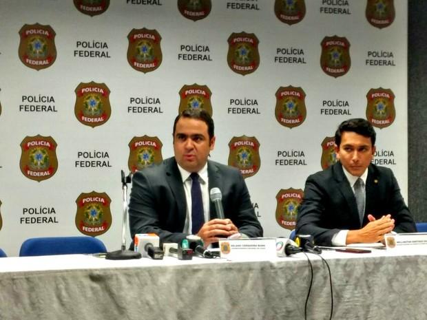 Delegados da PF apresentam detalhes sobre esquema de venda de sentenças (Foto: Arquivo G1)