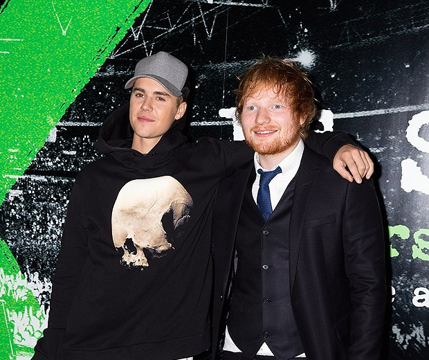 Justin Bieber e Ed Sheeran (Foto: Getty Images)