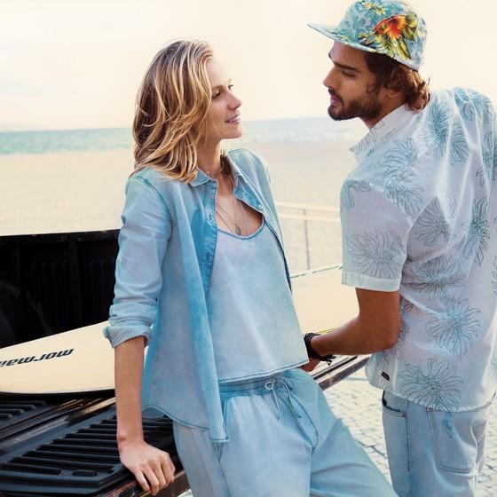 Renata Kuerten e Marlon Teixeira foram escolhidos para protagonizar a campanha de verão da Mormaii (Foto: André Passos)