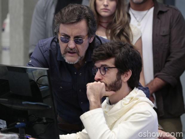 Perdeu, Breno! LC descobre o golpe (Foto: Além do Horizonte / TV Globo)