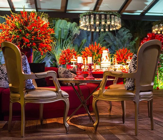Vista da mesa central de outro ângulo (Foto: Fabiano Battaglin/Gshow)