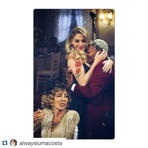 Mart'nalia com Marilia Pera e Luma Costa (Foto: Instagram)