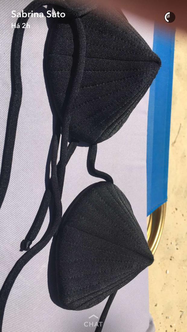 Biquíni usado por Sabrina Sato (Foto: Reprodução / Snapchat)