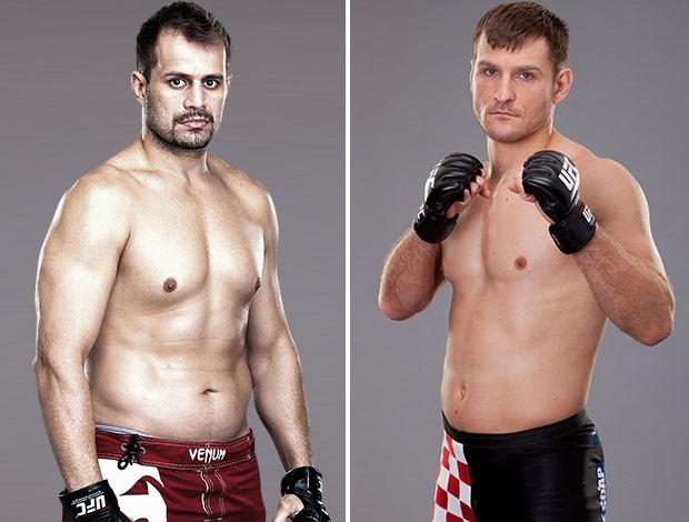 Montagem UFC Fábio Maldonado e Stipe Miocic (Foto: Editoria de arte)