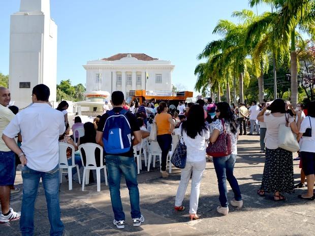 Greve educação Acre (Foto: Yuri Marcel / G1)