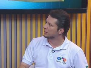 Marcelo Quintela, coordenador da Associação Humanitária Caminho Nações (Foto: Reprodução/TV Tribuna)
