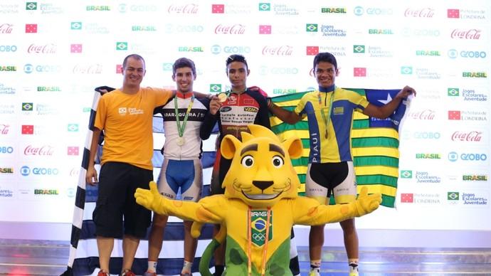 Ciclista de Londrina fatura primeira medalha nos Jogos Escolares (Foto: Divulgação/COB)