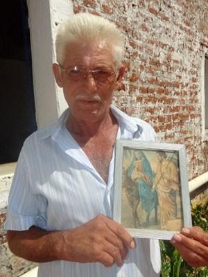 Natanael Brito, agricultor em São José do Egito, PE (Foto: Luna Markman / G1)
