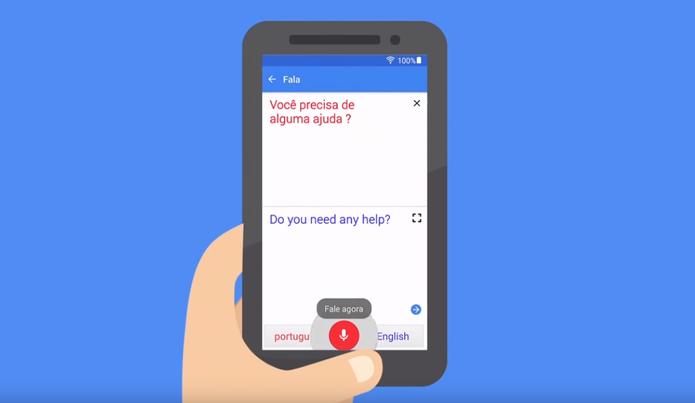 Google tradutor pode ser usado para conversar em outros idiomas (Foto: Reprodução/Google)