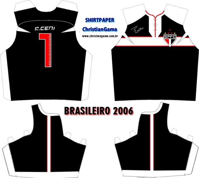 (NÃO USAR) Camisa Rogério Ceni Brasileiro 2006 (Foto: GloboEsporte.com)