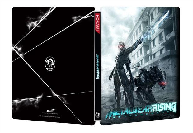 Caixa metálica da edição especial de 'Metal Gear Rising' (Foto: Divulgação)