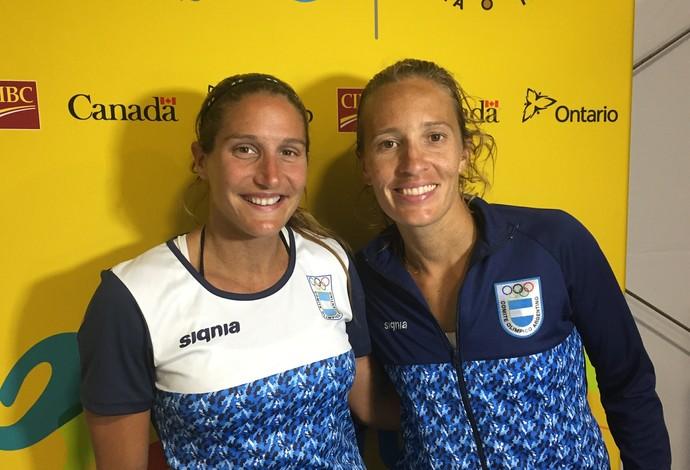 Georgina Klug e Ana Gallay vencem o Brasil e comemoram (Foto: GloboEsporte.com)