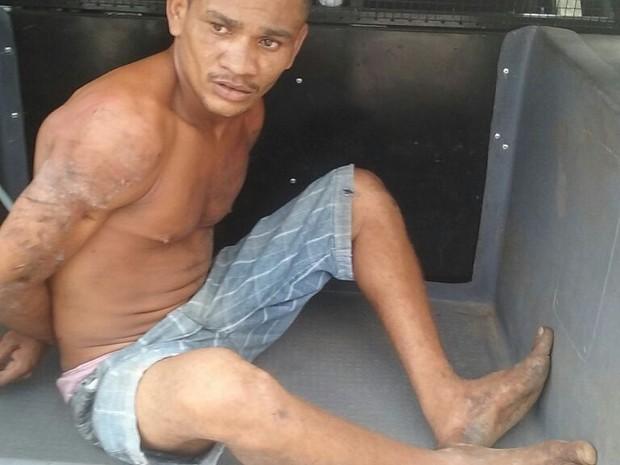 Um dos suspeitos, o Toba do Pocinha, já foi identificado e preso pela polícia (Foto: Divulgação/Polícia)