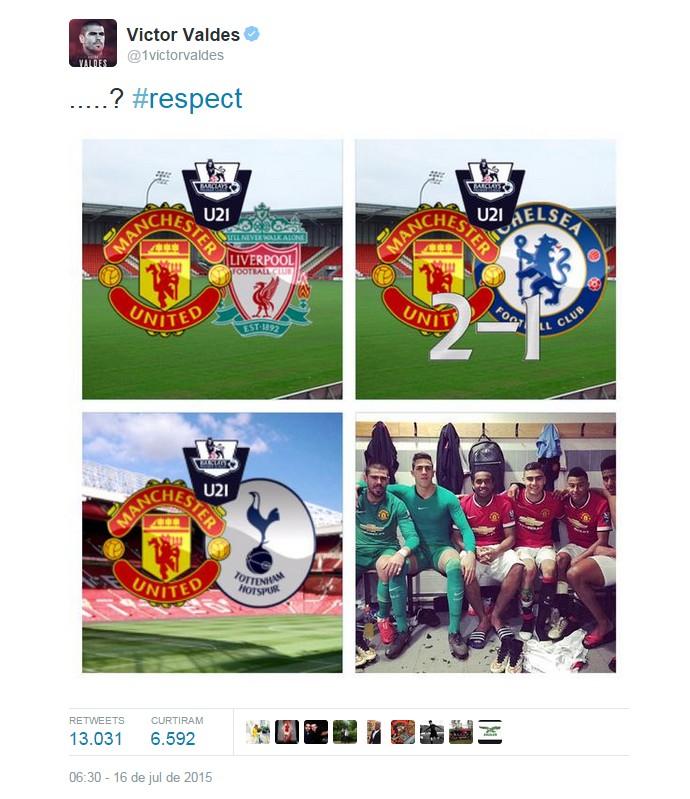 BLOG: Após ser criticado, Valdés desmente Van Gaal em rede social e pede respeito