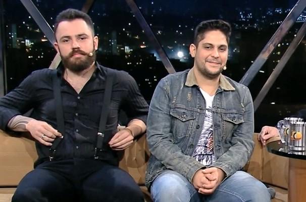 Os sertanejos goianos Jorge & Mateus estarão no Programa do Jô (Foto: Rede Globo/Programa do Jô)