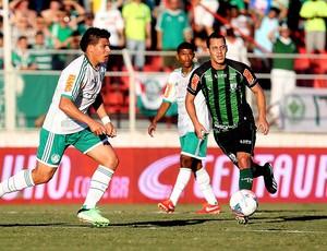 Lance do jogo entre Palmeiras e América-MG (Foto: Gaspar Nobrega / Vipcomm)