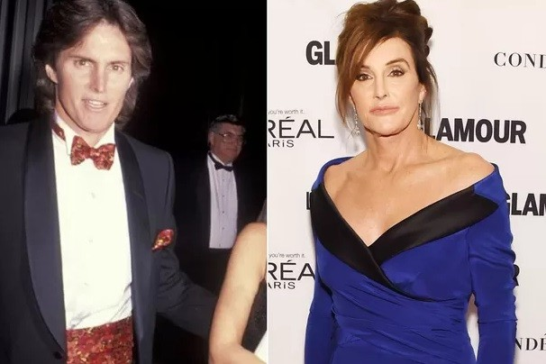 Antes e depois: Bruce Jenner passou a se chamar Caitlyn Jenner em 2015  (Foto: Dimitrios Kambouris/Getty)